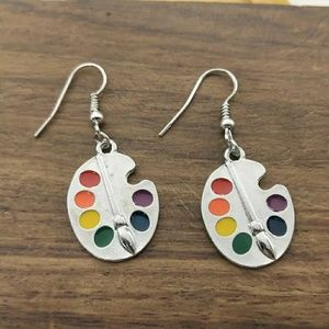 Paint Palette Earrings